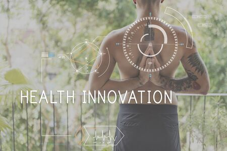 health technology: Health Fitness Healthcare Tracking Technology Concept