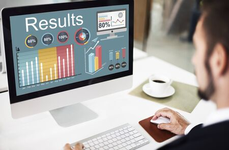 web graphics: Results Efficiency Progress Growth Concept Stock Photo