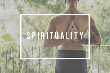 mindful: Spirituality Connection Faith Imagination Mindful Concept Stock Photo