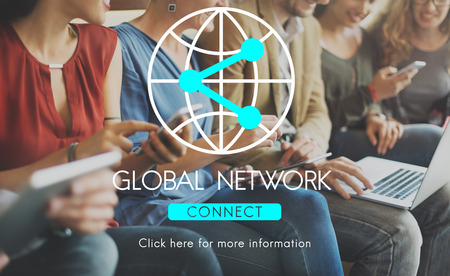 group network: Connection Internet Communication Network Sharing Concept