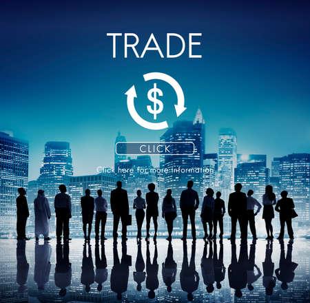cash cycle: Financial Trade Economics Financial Graphic Concept Stock Photo