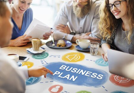 business group: Smart Casual Business People Concept