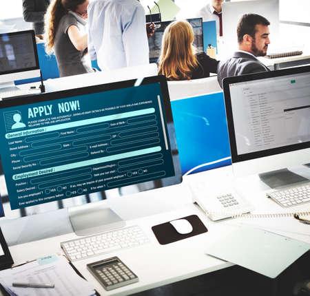 sailling: Online Web Job Application Form Concept