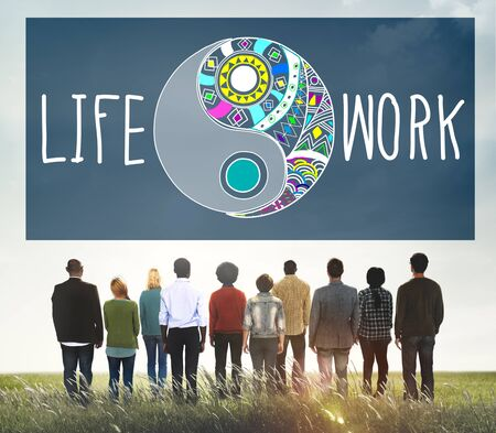 work life balance: Life Work Balance Functional Nature Active Style Concept