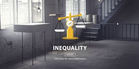 inequality: Inequality Difference Diversity Imbalance Racism Concept