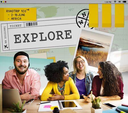 campus tour: Trip Travel Destinatiion Explore Tour Concept