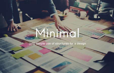 sencillez: Mínimo Simplicidad Facilidad minimalista concepto simple
