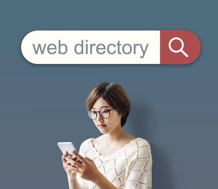 Web-Verzeichnis Suchmaschinen-Browser finden Konzept Standard-Bild