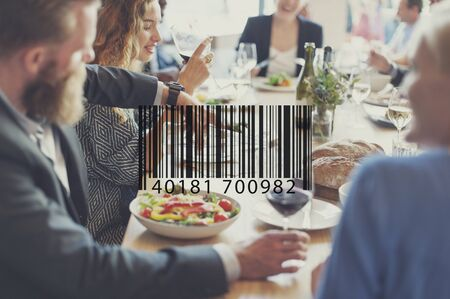 merchandise: Barcode Scan Shopping Store Merchandise Retail Concept