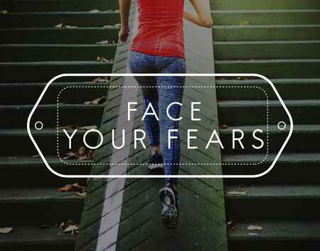 daring: FearLess Strong Strength Unafraid Daring Concept Stock Photo