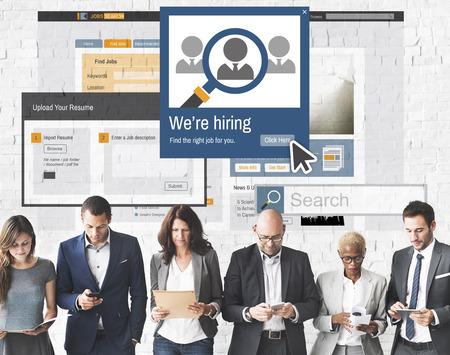 headhunting: We Are Hiring Career Headhunting Job Occupation Concept