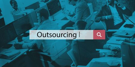 manpower: Outsourcing Workforce Manpower Freelance Outsource Concept Stock Photo