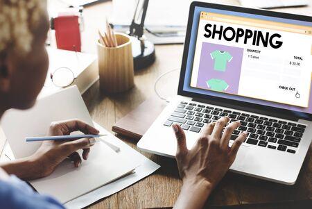spending: Shopping Marketing Puchase Shopaholic Spending Concept Stock Photo