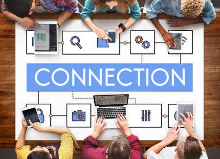 diversity domain: Network Connection Data Internet Technology Concept