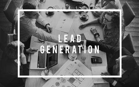Lead Generation Business Research Interest Concept Foto de archivo