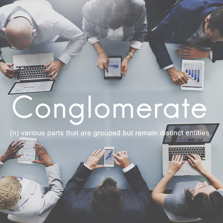 merge together: Conglomerate Alliance Business Collaborate Team Concept