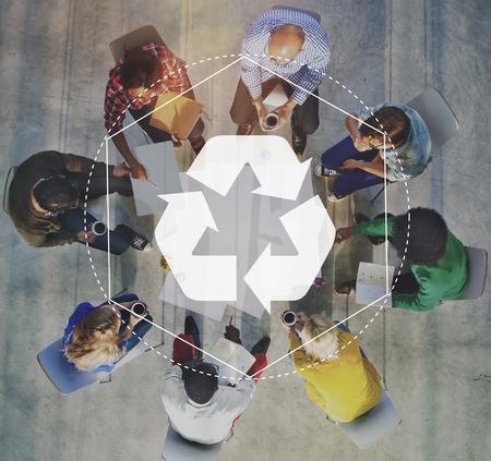 生分解性ソリューションをリサイクル グラフィック コンセプトをエンパワー