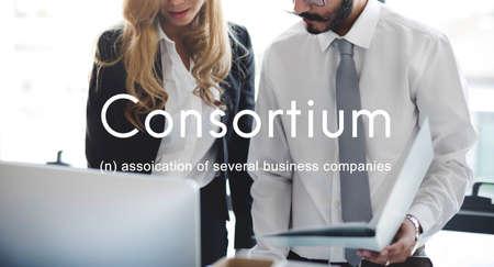 affiliation: Consortium Alliance Combine Cooperative Group Concept Stock Photo