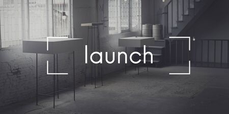 set up: Launch Launching Introduce Inaugurate Start Concept