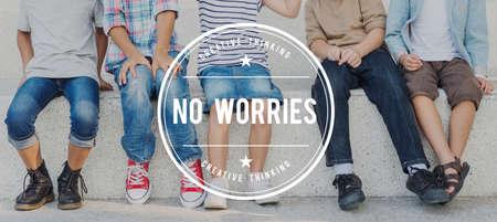 unworried: No Worries Carefree Serenity Unworried Tranquility Concept
