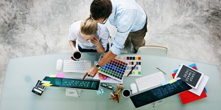 partnership strategy: Brainstorming Planning Partnership Strategy Adminstratation Concept Stock Photo