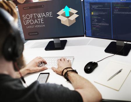 Actualizar la nueva versión de actualización de mejores gráficos Concepto