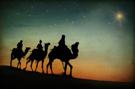 Estrela do deserto de três reis Conceito da natividade de Belém