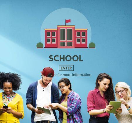 campus: School Academy Education Graphics Concept