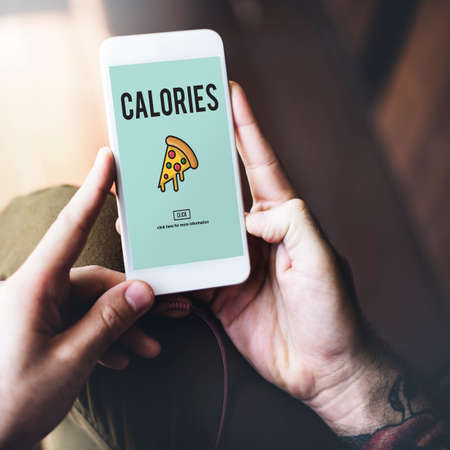the calories: Fast food Unhealthy Snacks Calories Fat Concept Stock Photo