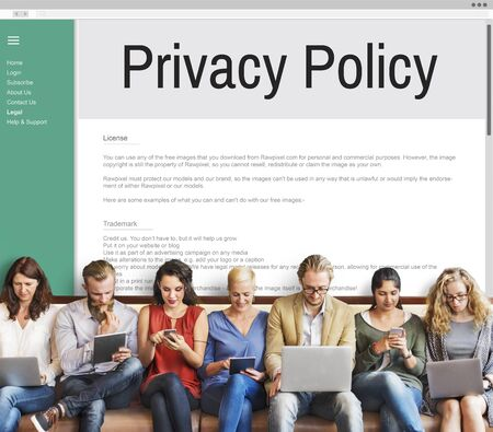 principle: Privacy Policy Information Principle Strategy Rules Concept Stock Photo
