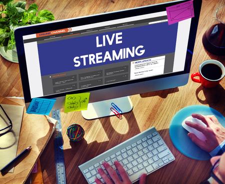 broadcast: Live Broadcast Media News Online Concept Stock Photo