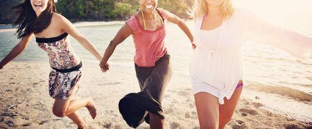 best travel destinations: Friend Friendship Girl Women Vacation Travel Concept Stock Photo