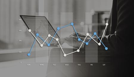 Line Graph Business Data anaysis begrip