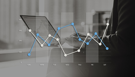 variation: Line Graph Business Data Anaysis concept Stock Photo