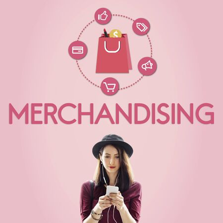 merchandising: Buying Consumerism Discount Merchandising Shopping Concept Stock Photo