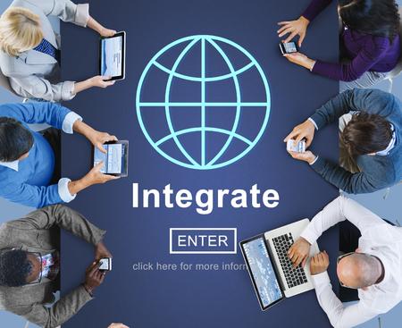 unify: Integrate Combine Merge Online Web Concept