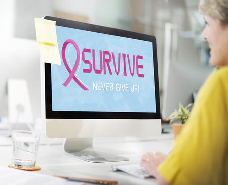 Brustkrebs glauben Hoffnung Frau Krankheit Konzept