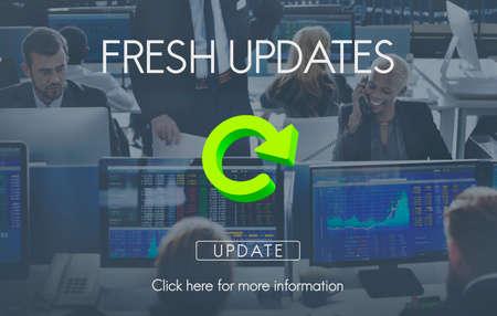 updates: Fresh Updates Website Webpage Networking Concept