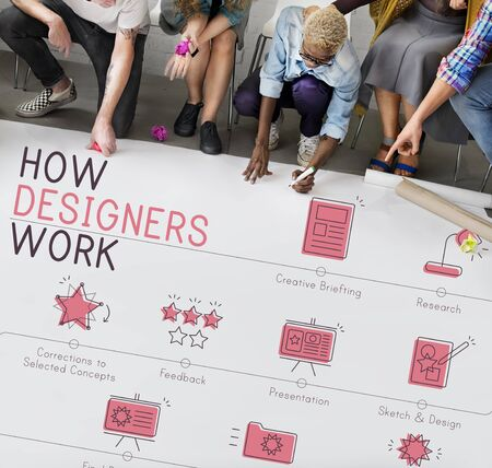 creativity: Design Development Visualize Creativity Concept