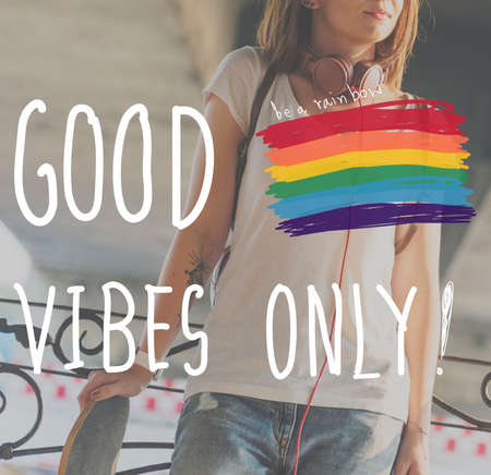 vibes: Good Vibes Only Inspire Motivational Positive Concept Stock Photo