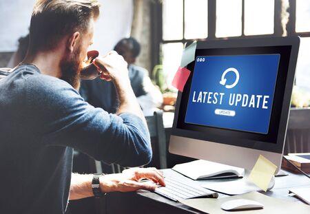 Update Upgrade Installation Latest Updating Concept 版權商用圖片