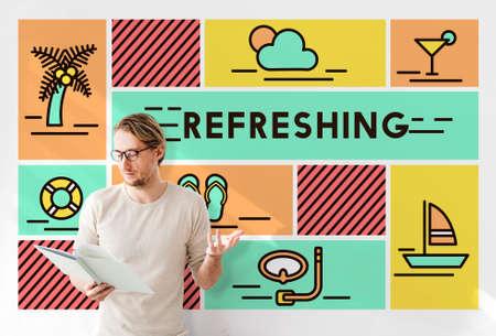 invigorate: Refreshing Refreshment Renew Rethink Restart Concept