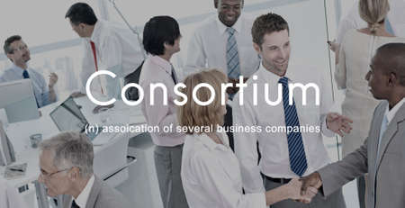 cooperative: Consortium Alliance Combine Cooperative Group Concept Stock Photo