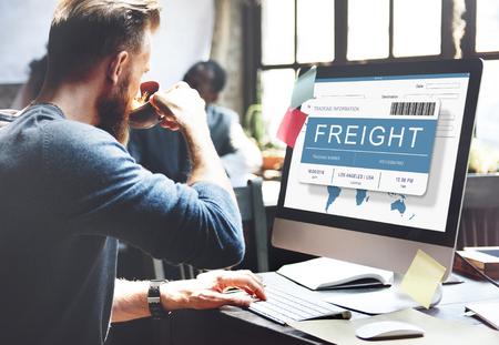 Logistics Delivery Cargo Freight Shipment Concept Imagens