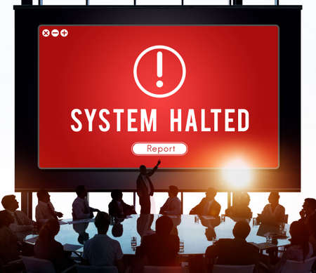 pattern: System Halted Network Problem Technology Software Concept