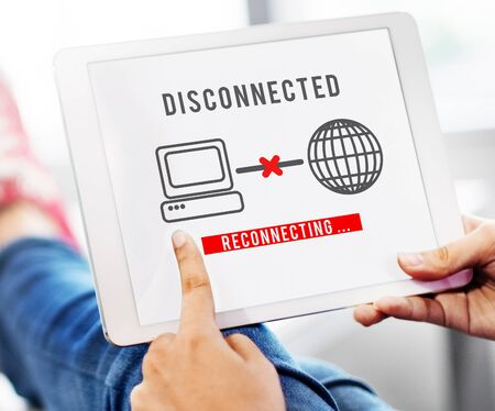 inaccessible: Disconnected Disconnect Error Inaccessible Concept Stock Photo