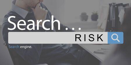 unsure: Risk Danger Unsure Assessment Business Concept