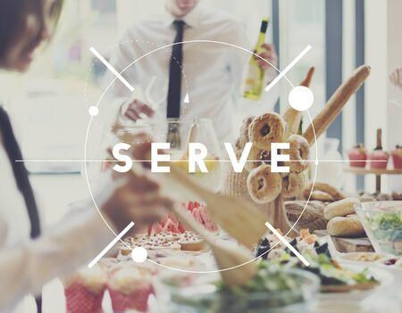 serve: Serve Waiter Serveur Service Treat Catering Concept