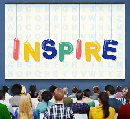 hopeful: Inspire Hopeful Believe Aspiration Vision Innovate Concept Stock Photo