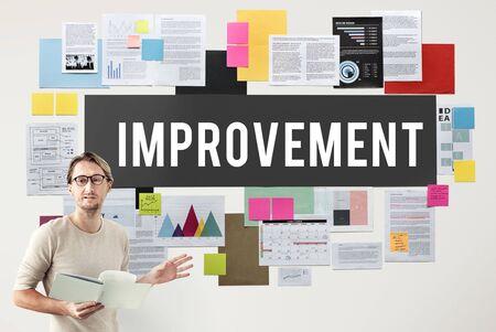 reform: Improve Innovation Progress Reform Better Concept Stock Photo